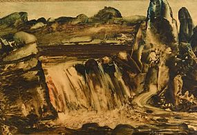 Daniel O'Neill, Salmon Leap, Clady River, Bunbeg, Co. Donegal at Morgan O'Driscoll Art Auctions