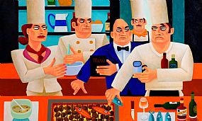 Graham Knuttel, Too Many Cooks at Morgan O'Driscoll Art Auctions