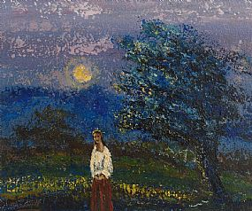 Daniel O'Neill, Figure in Landscape at Morgan O'Driscoll Art Auctions