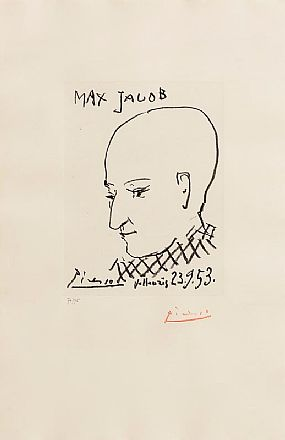 Pablo Picasso, Portrait of Max Jacob (1953) at Morgan O'Driscoll Art Auctions