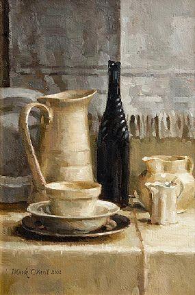 Mark O'Neill, Still Life - Jugs & Bottle (2002) at Morgan O'Driscoll Art Auctions