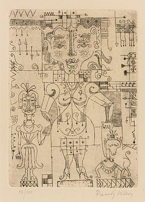 Paul Klee, Dame Mit Kind und Hund (Woman with Child and Dog) at Morgan O'Driscoll Art Auctions