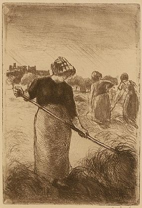 Camille Pissarro, Faneuses (1890) at Morgan O'Driscoll Art Auctions