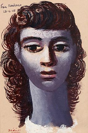 Daniel O'Neill, Portrait of a Lady at Morgan O'Driscoll Art Auctions