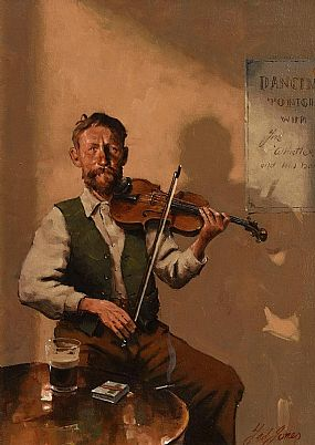 Ted Jones, The Fiddle Player at Morgan O'Driscoll Art Auctions