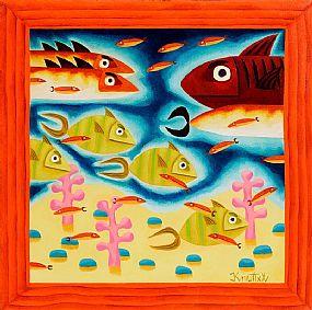 Graham Knuttel, Deep Blue at Morgan O'Driscoll Art Auctions