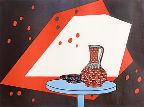 Patrick Caulfield, Red and White Still Life (1966) at Morgan O'Driscoll Art Auctions