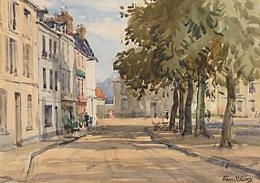 Frank McKelvey, Street in Honfleur, France at Morgan O'Driscoll Art Auctions