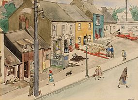 Harry Aaron Kernoff, Off Baggot Street, Ballsbridge (1943) at Morgan O'Driscoll Art Auctions