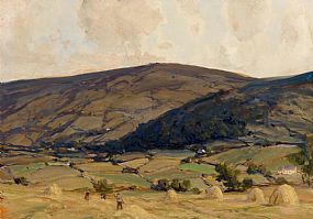 James Humbert Craig, Figures Making Hay, Glendun, near Cushendun at Morgan O'Driscoll Art Auctions