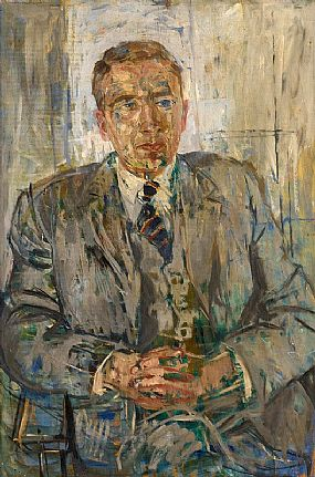 Basil Blackshaw, Portrait of a Gentleman at Morgan O'Driscoll Art Auctions