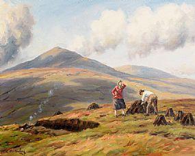Charles J. McAuley, Gathering the Peat at Morgan O'Driscoll Art Auctions
