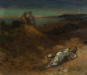 George Russell, Summer Evening, Hill of Howth at Morgan O'Driscoll Art Auctions