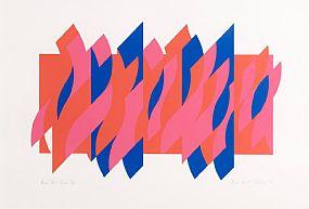 Bridget Riley, Red Red Blue (2010) at Morgan O'Driscoll Art Auctions
