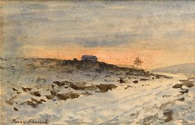 Percy French, Winter Landscape at Morgan O'Driscoll Art Auctions