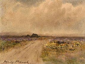 Percy French, Peat Stacks, Connemara at Morgan O'Driscoll Art Auctions
