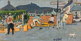 Maurice MacGonigal, Fish Sellers, Clifton, Connemara at Morgan O'Driscoll Art Auctions