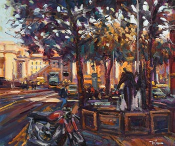 Norman Teeling, Looking Towards Trinity College, Dublin at Morgan O'Driscoll Art Auctions