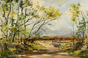 Kenneth Webb, The Road to Galway from Roundstone, Connemara at Morgan O'Driscoll Art Auctions