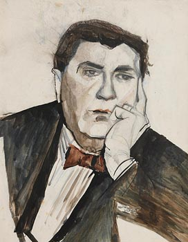 Muriel Brandt, Study of Michael MacLiammoir at Morgan O'Driscoll Art Auctions