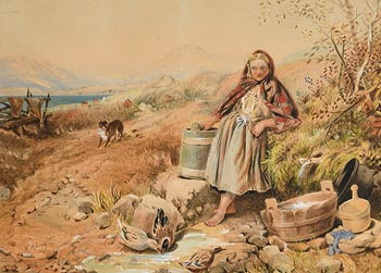 William Mulready, Doing the Chores (1860) at Morgan O'Driscoll Art Auctions
