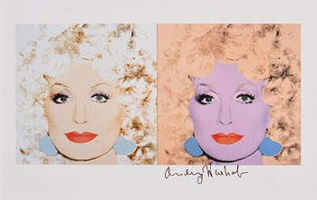 Andy Warhol, Dolly Parton (1982) at Morgan O'Driscoll Art Auctions