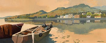 John Francis Skelton, At Bay, The Quays Clifden, Galway at Morgan O'Driscoll Art Auctions