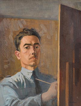 Gerald J. Bruen, Self Portrait at Morgan O'Driscoll Art Auctions