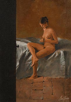 Ted Jones, Seated Female Nude at Morgan O'Driscoll Art Auctions