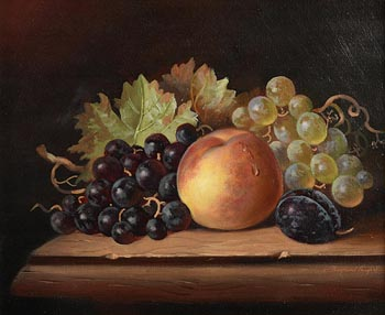 Raymond Campbell, Peaches, Grapes and Plums at Morgan O'Driscoll Art Auctions