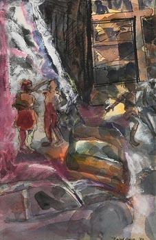 David Crone, Easy Street (1983) at Morgan O'Driscoll Art Auctions