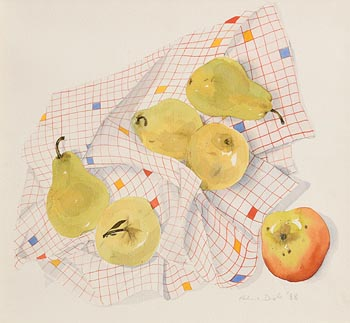 Pauline Doyle, Still Life with Pears (1988) at Morgan O'Driscoll Art Auctions