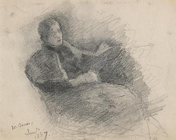 John Butler Yeats, Female Relaxing (1887) at Morgan O'Driscoll Art Auctions