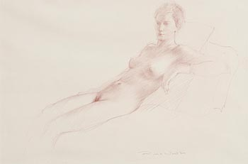 Robert Wraith, Female Nude at Morgan O'Driscoll Art Auctions