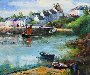 Kenneth Webb, Roundstone Harbour, Connemara at Morgan O'Driscoll Art Auctions