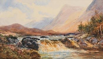 Alexander Williams, Waterfall near Aasleagh, Killery Bay at Morgan O'Driscoll Art Auctions