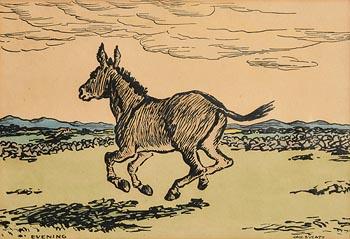 Jack Butler Yeats, Evening at Morgan O'Driscoll Art Auctions
