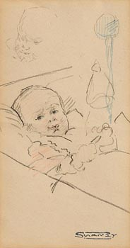 Mary Swanzy, Contented Child c.1935 at Morgan O'Driscoll Art Auctions