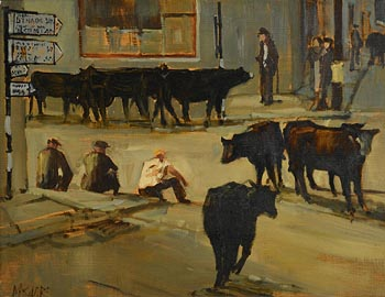 Cecil Maguire, End of the Fair, Clifden at Morgan O'Driscoll Art Auctions