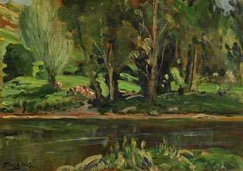 James Humbert Craig, Grazing by the River at Morgan O'Driscoll Art Auctions