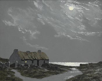 Ciaran Clear, Moonlight, Co. Donegal at Morgan O'Driscoll Art Auctions