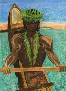 Pauline Bewick, South Sea's Boat Man (1991) at Morgan O'Driscoll Art Auctions