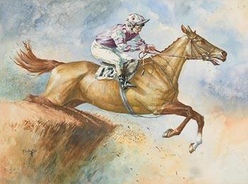 Peter Curling, Horse and Jockey (1973) at Morgan O'Driscoll Art Auctions
