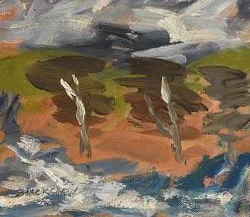 Basil Blackshaw, Trees on the Lagan at Morgan O'Driscoll Art Auctions