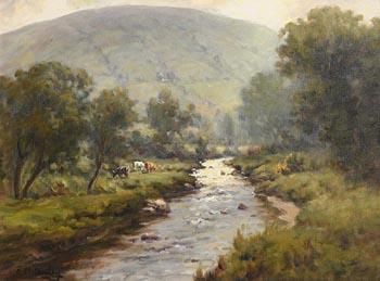 Charles J. McAuley, A Break in the Clouds Glendun at Morgan O'Driscoll Art Auctions