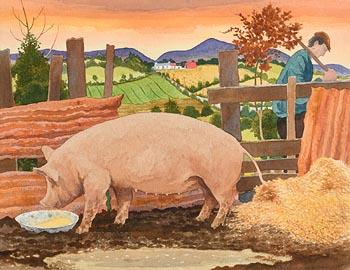 James MacIntyre, The Pig Sty at Morgan O'Driscoll Art Auctions