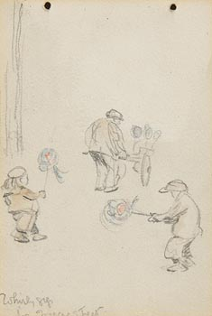 Jack Butler Yeats, Children Playing the Whirly Gigs at Morgan O'Driscoll Art Auctions