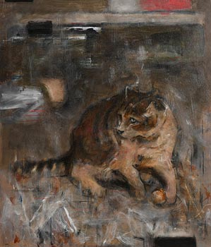 Noel Murphy, Tabby Cat at Morgan O'Driscoll Art Auctions