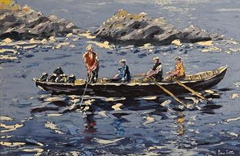 Ivan Sutton, Hauling Lobster Pots, Blasket Island, Co Kerry at Morgan O'Driscoll Art Auctions