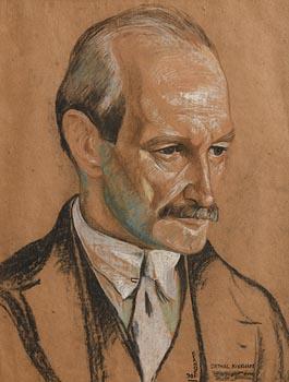 Harry Kernoff, Portrait of Cathal Kickham (1930) at Morgan O'Driscoll Art Auctions